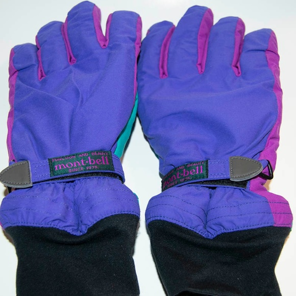 47472de58 Mont-Bell Accessories | Retro 80s90s Montbell Purple Ski Gloves ...